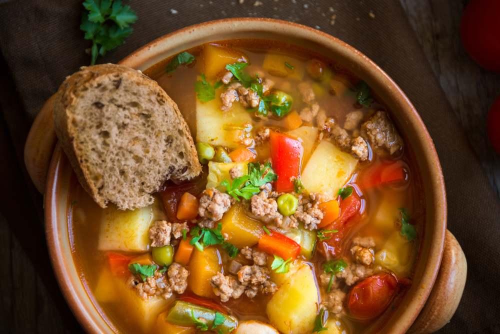 hamburger vegetable soup recipe