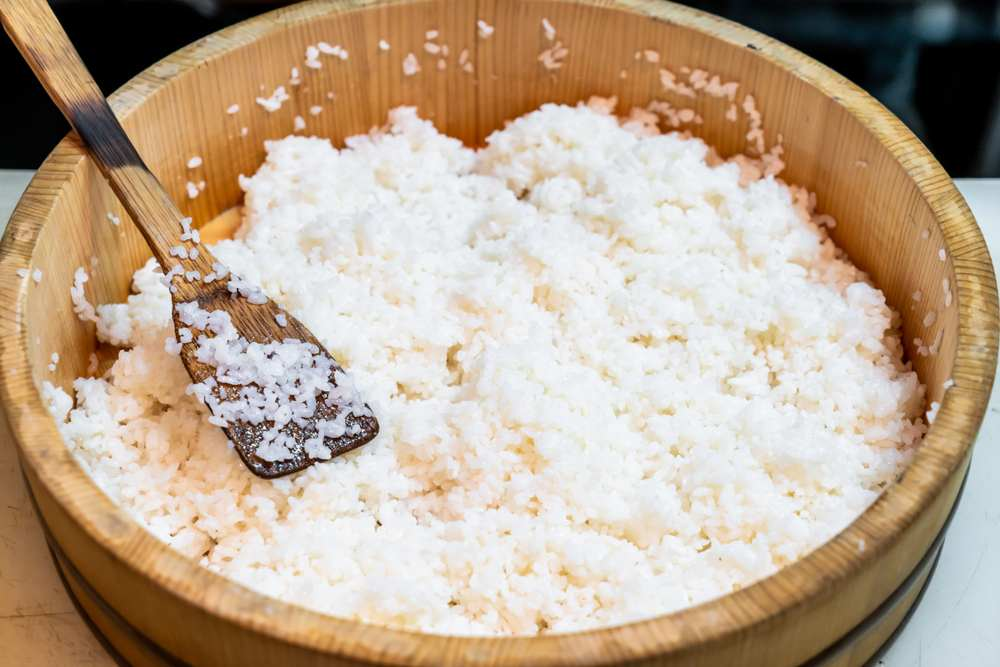 sushi rice in a cooker
