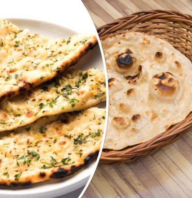 tandoori roti vs naan
